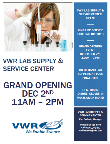 On-Campus VWR Lab Supply & Service Center Grand Opening