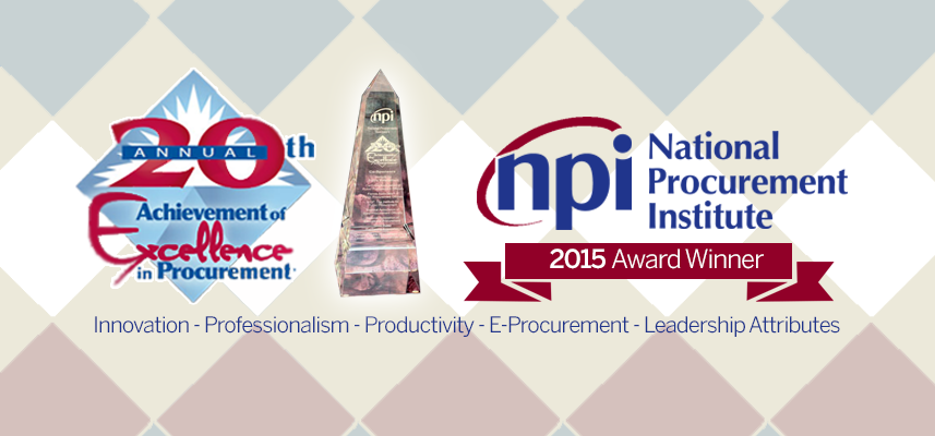 National Procurement Institute Excellence Award Banner