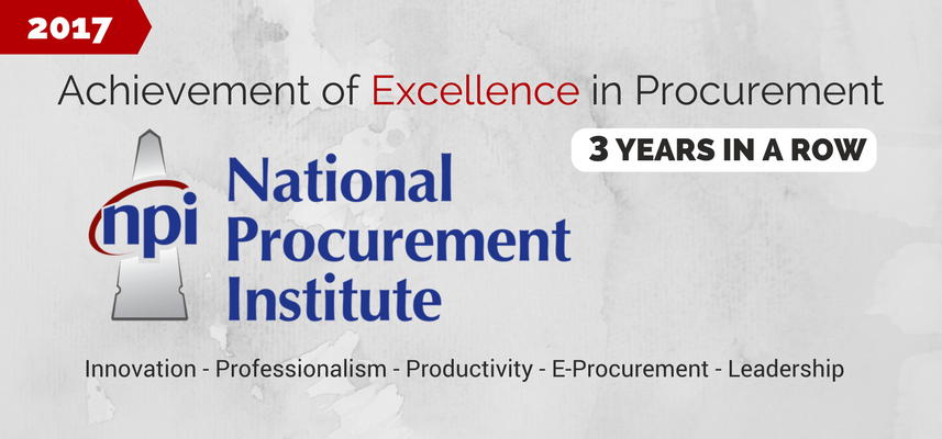 Achievement of Excellence in Procurement Award Banner