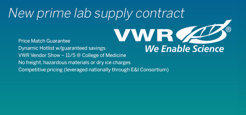 New Lab Supply Contract